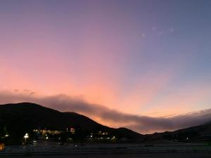 Sunset over Madonna Inn in San Luis Obispo