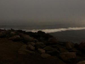 Fog and nights tides at Morro Rock