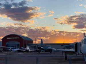 Sunset over Estrella Warbirds Museum