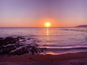 Sunset over Shell Beach